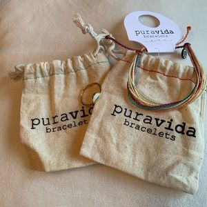 Pura Vida Howlite Stone Ring and Original Bracelet